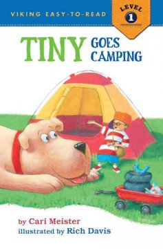 Bookjacket for  Tiny goes camping