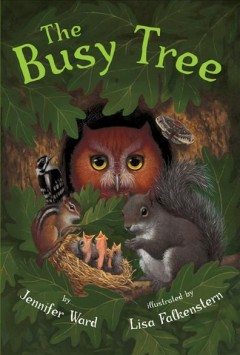 Bookjacket for The Busy tree