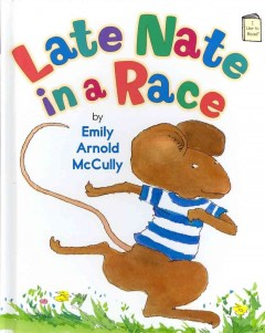 Bookjacket for  Late Nate in a race