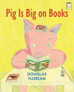 Bookjacket for  Pig is big on books