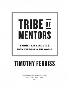 Bookjacket for  Tribe of mentors