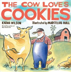 Bookjacket for The Cow Loves Cookies