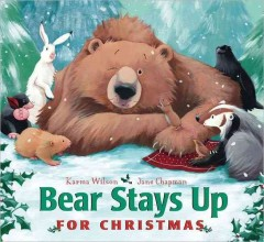 Bookjacket for  Bear stays up for Christmas