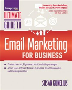 Bookjacket for  Entrepreneur magazine's ultimate guide to email marketing for business