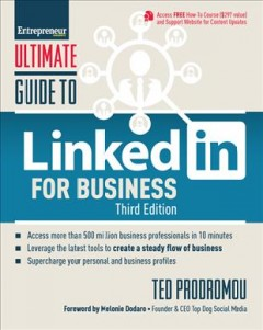 Bookjacket for  Ultimate guide to Linkedin for business