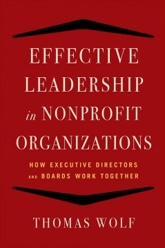 Bookjacket for  Effective leadership for nonprofit organizations