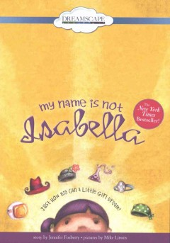 Bookjacket for  My name is not Isabella