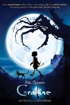 """""""Coraline"""" by Neil Gaiman book cover"""