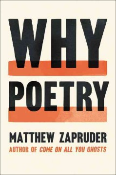 Book cover of Why Poetry by Matthew Zapruder