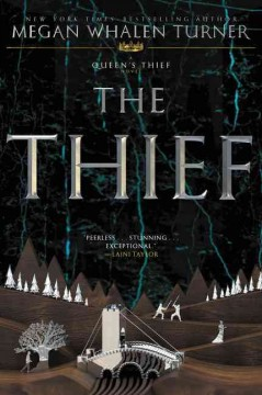 The Thief: A Queen's Thief Novel by Megan Whalen Turner book cover.