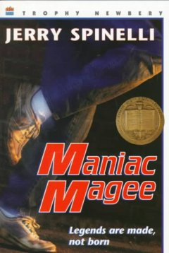 Maniac Magee by Jerry Spinelli book cover.