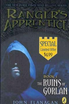 The Ruins of Gorlan by John Flanagan book cover.