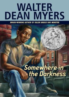 Somewhere in the Darkness by Walter Dean Myers book cover.