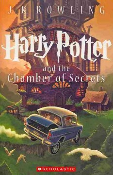 Harry Potter and the Chamber of Secrets by J.K. Rowling book cover.