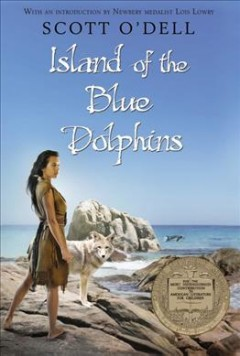 Island of the Blue Dolphins by Scott O'Dell book cover.