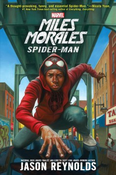 """""""Miles Morales: Spider-Man"""" by Jason Reynolds book cover"""