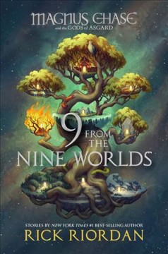 """""""Nine From the Nine Worlds"""" by Rick Riordan Book Cover"""