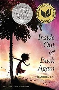 """""""Inside Out & Back Again"""" by Thanhha Lai book cover"""