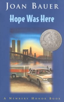 Hope was Here by Joan Bauer book cover.
