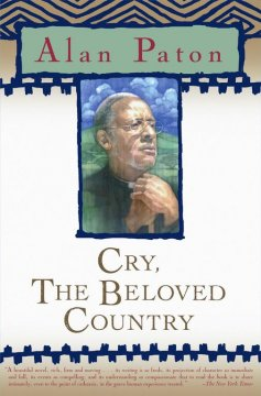 an analysis of the character of stephen kumalo from cry the beloved country Paton's deeply moving story of zulu pastor stephen kumalo and \cry, the beloved country\ is much the same way his character, arthur jarvis, does in \cry.