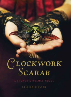 book cover for The Clockwork Scarab