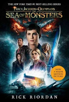 The sea of monsters by Rick Riordan book cover