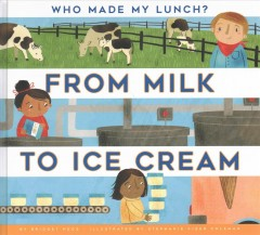 From-milk-to-ice-cream-/-by-Bridget-Heos-;-illustrated-by-Stephanie-Fizer-Coleman.
