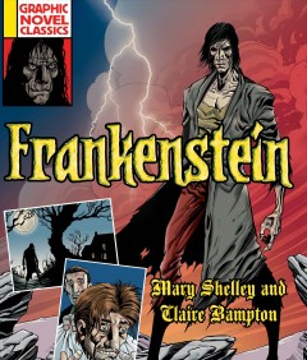 book cover of Frankenstein.