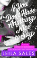 If You Don't Have Anything Nice to Say. [electronic resource]