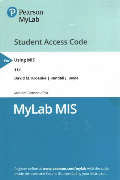 Mylab Mis With Pearson Etext -- Access Card -- for Using Mis