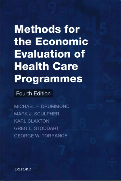 Methods for the economic evaluation of health care programmes /
