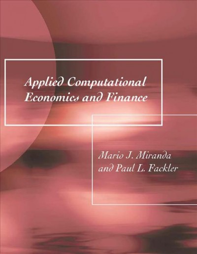 Applied Computational Economics and Finance