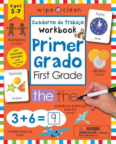 Wipe Clean Bilingual Workbook for First Grade