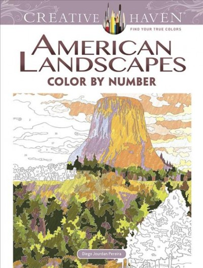 American Landscapes Color by Number Coloring Book