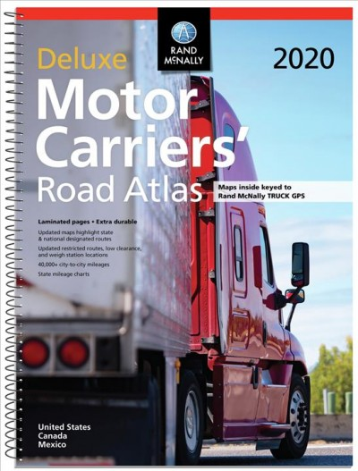 Rand Mcnally 2020 Deluxe Motor Carriers Road Atlas