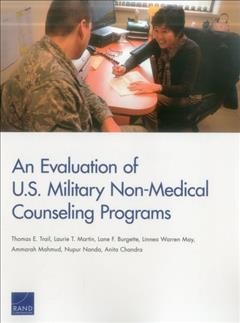 An Evaluation of U.S. Military Non-Medical Counseling Programs