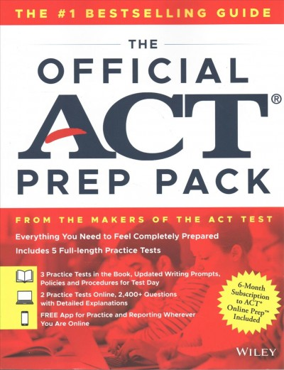 The Official Act Prep Pack With 5 Full Practice Tests - 3 in Official Act Prep Guide + 2 O