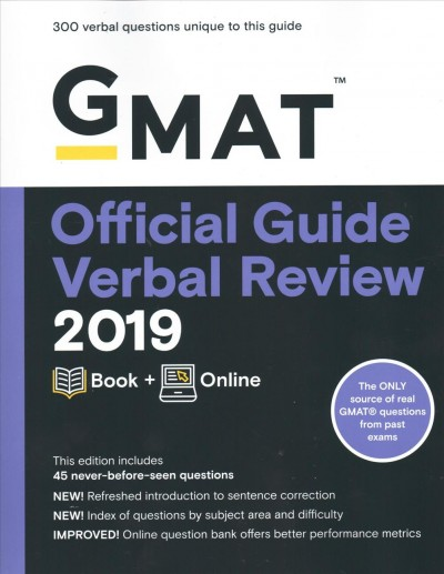 Gmat Official Guide 2019 Verbal Review