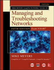 Mike Meyers?Comptia Network+ Guide to Managing and Troubleshooting Networks - Exam N10-007