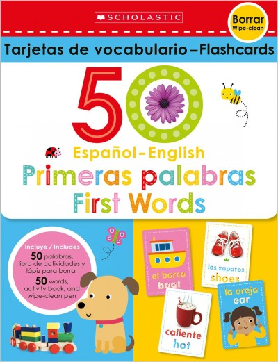 Flash Cards Set - 50 Spanish-english First Words