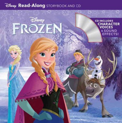 Frozen:Read-Along Bookwith CD 冰雪奇緣英語閱讀書附CD
