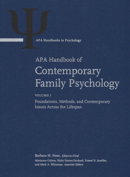 Apa Handbook of Contemporary Family Psychology