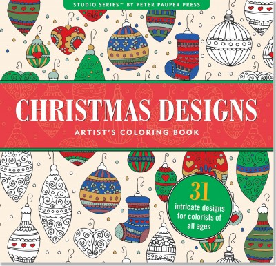 Christmas Designs Artist's Coloring Book