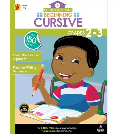 Skills for School Beginning Cursive, Grades 2-3