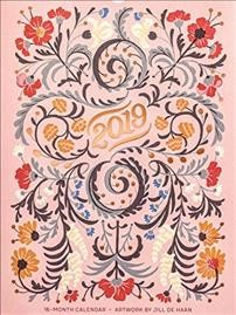 High Note Floral Typography Designer 2019 Calendar