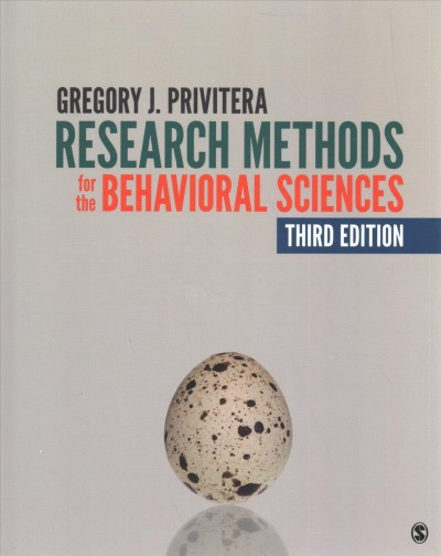 Research Methods for the Behavioral Sciences + an Easyguide to Apa Style 3rd Ed.
