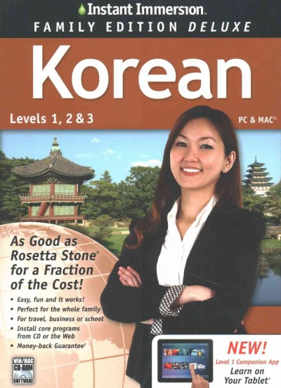 Instant Immersion Korean, Level 1, 2 & 3
