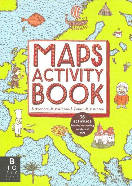 Maps Activity Book 手繪風世界地圖遊戲書(英國版)