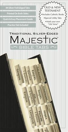 Majestic Traditional Silver-Edged Bible Tabs