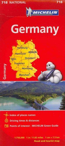 Michelin Map 718 Germany